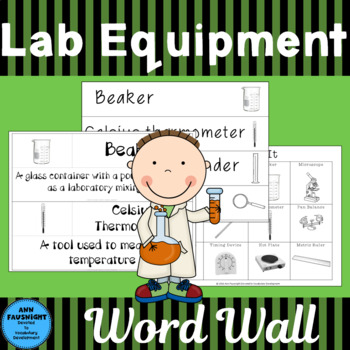 Lab Equipment Word Wall Words and Activities