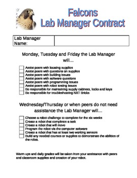 Lab Manager Contract