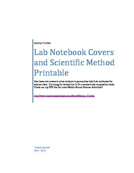 Lab Notebook Cover and Scientific Method Printable