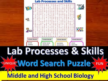 Lab Processes and Skills- a fun & unique Word Search Puzzl