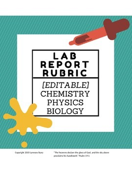 Lab Report Grading Rubric - High School