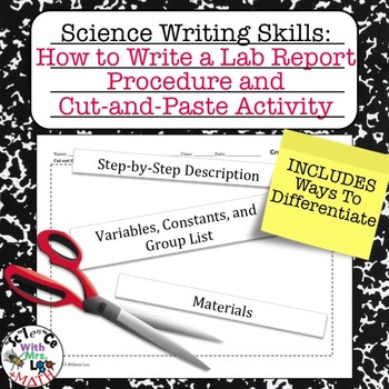 Lab Report Writing How to Write a Procedure and Cut and Pa