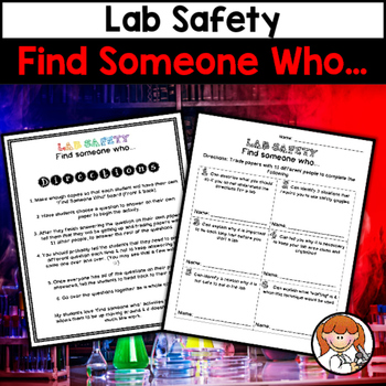 Science Lab Safety Find Someone Who