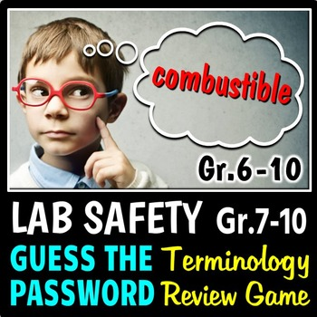 Lab Safety - Guess the Password Terminology Review Game {E