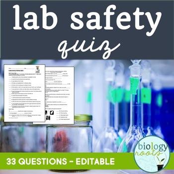 Lab Safety Quiz (4 parts)