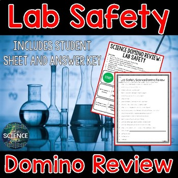 Lab Safety - Science Domino Review Activity
