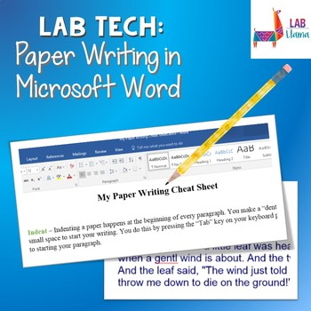 *NEW!* Lab Tech: Paper Formatting in Microsoft Word
