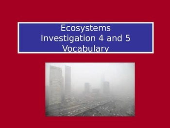 Ecosystems: LabLearner Investigations 4-5
