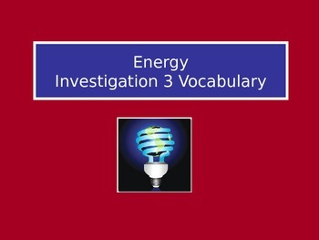 Forms of Energy: LabLearner Investigation 3
