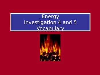 Forms of Energy: LabLearner Investigations 4-5