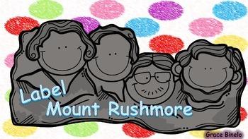 Label Mount Rushmore