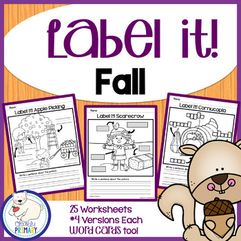 Label a Picture - Fall