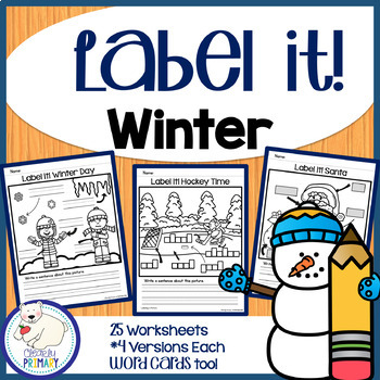 Label a Picture - Winter