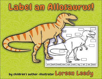 Label an Allosaurus! {Dinosaur Body Parts Diagram}