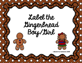 Label the Gingerbread Boy