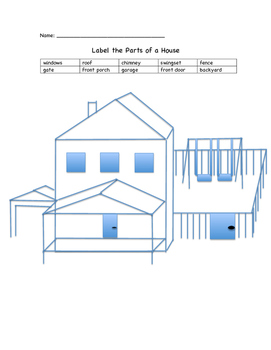 Label the Parts of a House (outdoors)