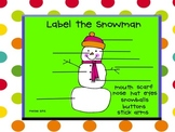 Label the Snowman-Interactive