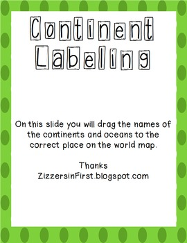 Label the World Map SmartBoard Activity