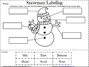 Labeling Pictures-Christmas