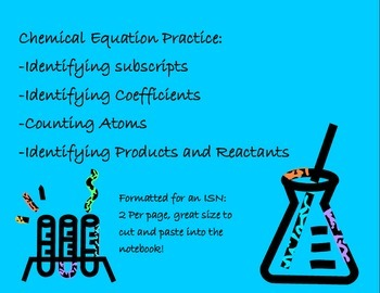 Labeling a Chemical Equation for ISN: Background Info and