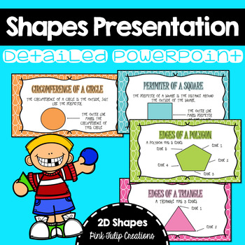 Labelling 2D Shapes Presentation Includes Square, Triangle