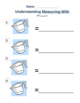 Labelling Measuring Cups -health and nutrition