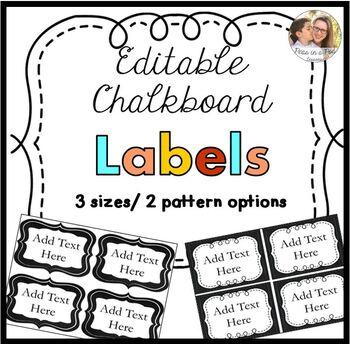 Editable Labels Chalkboard Theme