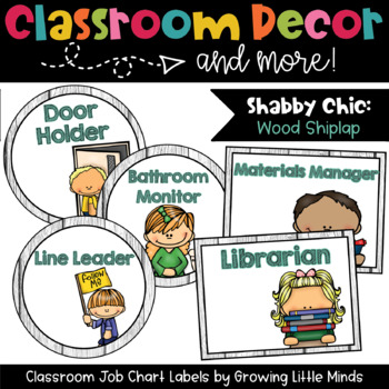 Labels:  Classroom Jobs- Shabby Chic Rustic Wood Shiplap decor