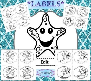 Ocean Theme - Editable Labels - Classroom Decor - Ocean An