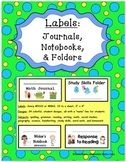 Labels: Journals, Notebooks, & Folders
