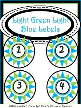 Labels: Light Green and Light Blue Stars