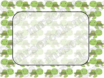 Labels: Lots of Turtles 10 per page