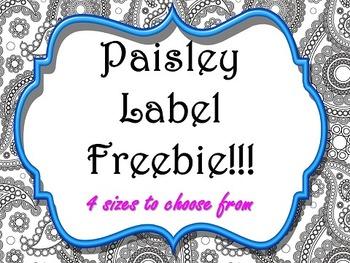 Labels:  Paisley
