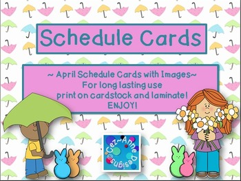 Labels - Schedule Cards ~ April Theme with Images
