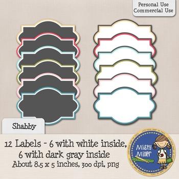 Labels Set 1 - Shabby