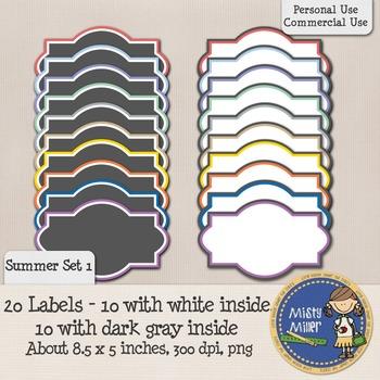 Labels Set 1 - Summer 1