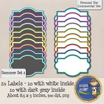 Labels Set 1 - Summer 2