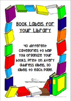 Labels for Book Baskets and Books-40 categories
