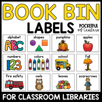 Labels for Book Center Bins