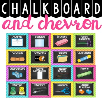 Classroom Supply Labels {Chalkboard and Chevron Classroom