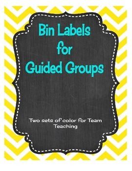 Labels for Guided Groups