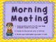 Labels for Morning Meeting and Closing Circle Routines