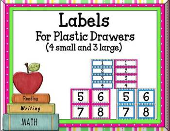 Labels for Plastic Drawers
