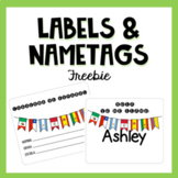 Name Tags & Labels for Spanish Notebook {Freebie}