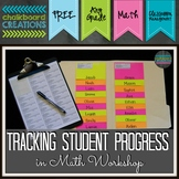 Labels for Tracking Student Progress during Math Workshop