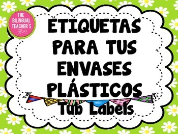 Labels for your Tubs in Spanish and English
