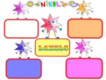 Star - Labels - Classroom Decor - Clip Art - Personal or C