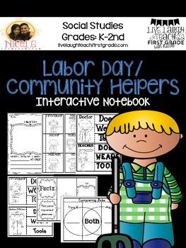 Labor Day/ Community Helpers Unit - Interacitve Notebook