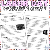 Labor Day Nonfiction Reading Comprehension Packet