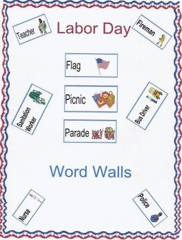 Labor Day Word Walls